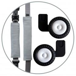 ROLLERSY Baby Grey - kółka z uchwytem do fotelików samochodowych 0-13 kg