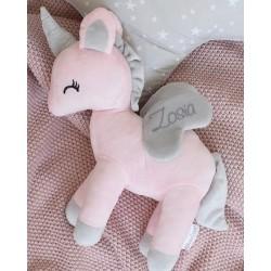 Pluszowy Jednorożec rozmiar M- Różowy - przytulanki dla dzieci