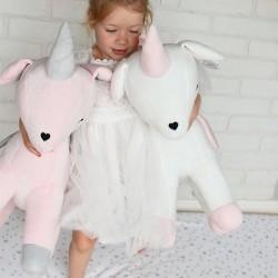 Pluszowy Jednorożec rozmiar XL-Gigant- Różowy - przytulanki dla dzieci