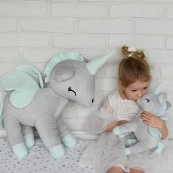 Pluszowy Jednorożec rozmiar XL-Gigant- Szary - przytulanki dla dzieci