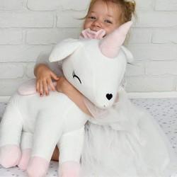 Pluszowy Jednorożec rozmiar XL-Gigant- Ecru - przytulanki dla dzieci