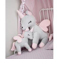 Pluszowy Jednorożec rozmiar XL-Gigant - Szaro-różowy - przytulanki dla dzieci