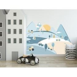 Naklejka na ścianę - Góry błękitne