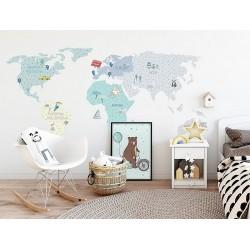 Naklejka na ścianę - Mapa miętowa