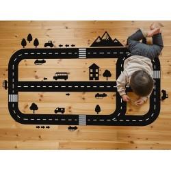 Naklejka na podłogę | tor dla aut