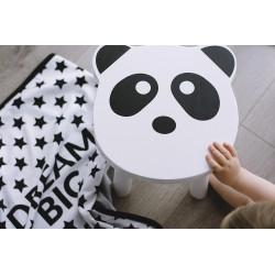 Drewniany taboret PANDA krzesełko dziecięce