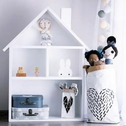 Drewniany domek dla lalek regał XXL - biały