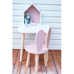 Krzesełko dziecięce króliczek drewniane - różne kolory