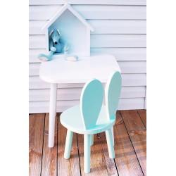 Krzesełko dziecięce króliczek drewniane