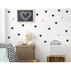 Naklejki na ścianę - Serca małe