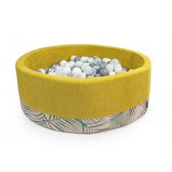 Suchy basen z piłeczkami koło ŻÓŁTY + PALMY - 250 piłeczek ( DOUX )