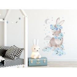 Naklejka na ścianę - Królik Niebieski
