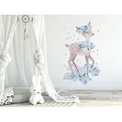 Naklejka na ścianę - Sarenka Niebieska