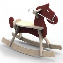 Koń na biegunach Brown