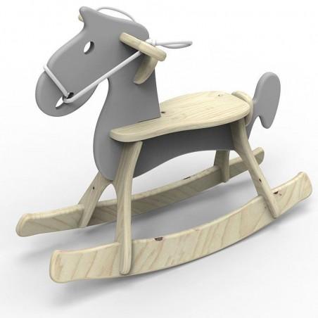 Koń na biegunach Grey