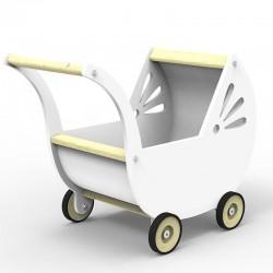 Wózek dla lalek - Biały