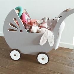 Wózek dla lalek - Szary