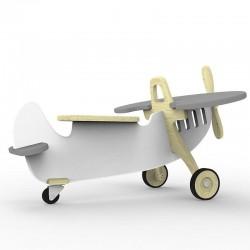 Jeździk Samolot - Szary