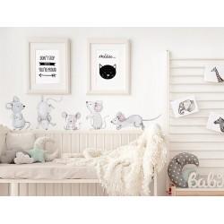 Naklejka na ścianę - Myszki