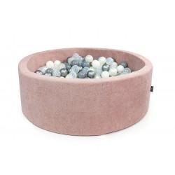 Suchy basen z piłeczkami koło Pudrowy Róż + 250 piłeczek ( DOUX )