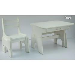 Biurko i krzesełko z regulacją wysokości Biel