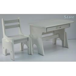 Biurko i krzesełko z regulacją wysokości Szare