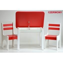 Otwierany stolik z krzesełkami Czerwone