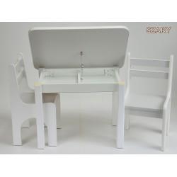 Otwierany stolik z krzesełkami Szary