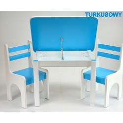 Otwierany stolik z krzesełkami Turkusowy