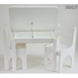 Otwierany stolik z krzesełkami Biały