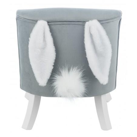 Fotelik dla dziecka KRÓLIK SZARY - Białe nogi